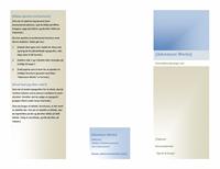 """Brochure (8 ½"""" x 11"""", liggende, bukkes 2 gange)"""