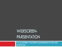 Widescreen-præsentation