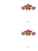 Takkekort (billede af julestjerne)