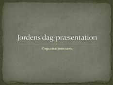 Jordens dag-præsentation