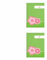 Takkekort (blomsterdesign)