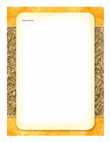 Brevpapir (billede af sol og sand)