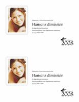 Indbydelse til dimission med foto (halv side)
