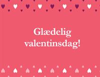 Valentinsdagkort (kvart foldet)