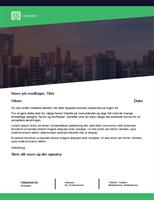 Forretningsbrev (grønt skovdesign)