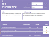 Ideplanlægningskalender (opgaver)