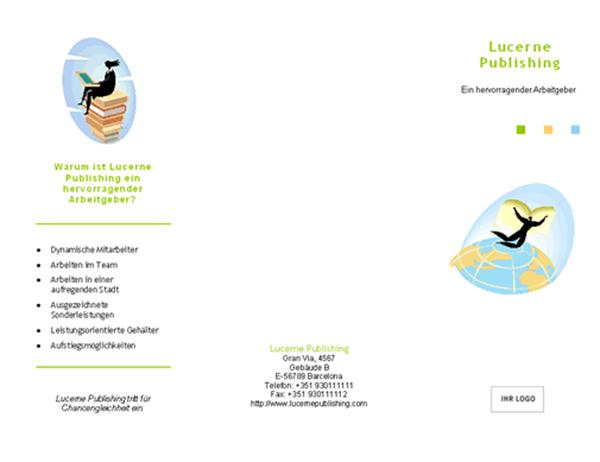 Broschüre für die Personalsuche