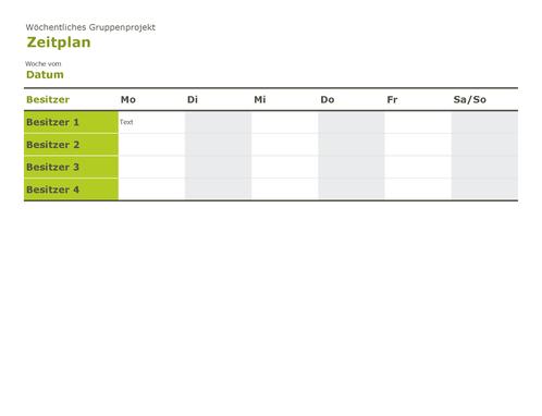 Gruppenzeitplan