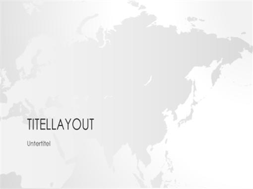 """Serie """"Weltkarten"""", Präsentation """"Asien"""" (Breitbild)"""