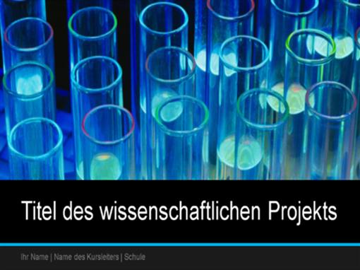 Präsentation eines wissenschaftlichen Projekts (Breitbild)