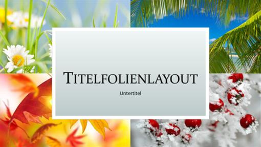 """Naturpräsentation """"Vier Jahreszeiten"""" (Breitbild)"""
