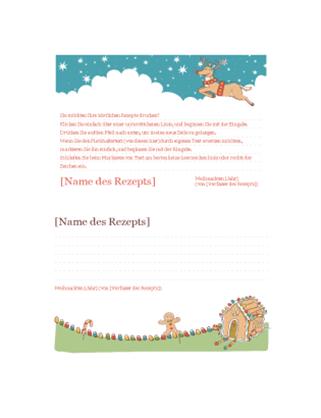 Weihnachtliche Rezeptkarten