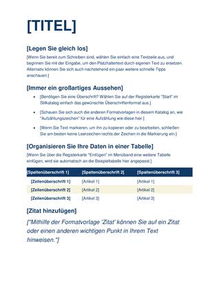 Standardpaper (kreisförmig)