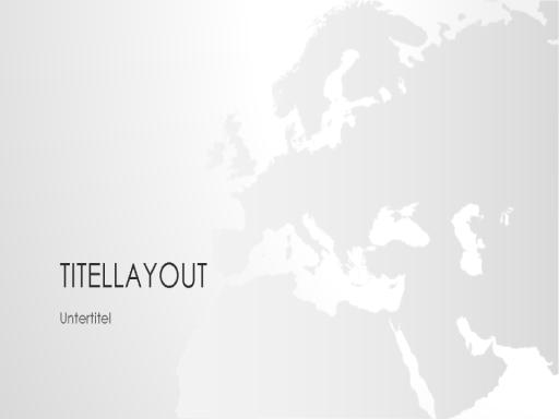 "Serie ""Weltkarten"", Präsentation ""Europa"" (Breitbild)"