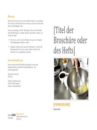 Broschüre für Produkte und Dienstleistungen
