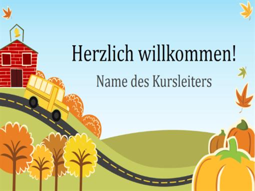 """Präsentation """"Grundschule hat begonnen"""" (Breitbild)"""