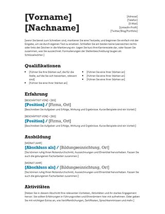 Lebensläufe und Anschreiben - Office.com