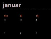 Registerkarten des unendlichen Kalenders (schwarz)