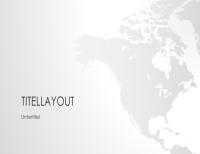 "Serie ""Weltkarten"", Präsentation ""Nordamerika"" (Breitbild)"