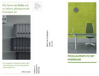 Dreifach gefaltete Geschäftsbroschüre (Design grün, schwarz)