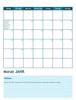Akademischer Kalender 2014 (Beginn Montag)