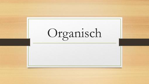 Organisch, dunkles Holz