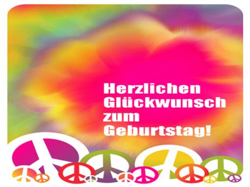 Geburtstagskarte (Schnürbatik)