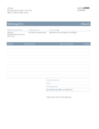 """Firmenrechnung (Design """"Zeitlos"""")"""