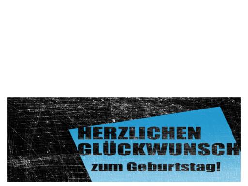 """Geburtstagskarte, Hintergrund """"Kratzer"""" (schwarz, blau, Mittelfaltung)"""