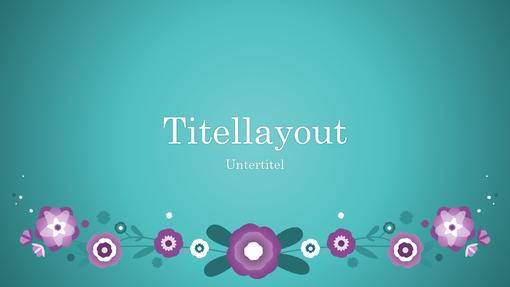 Blumen in Lilatönen vor blauem Hintergrund (Breitbild)