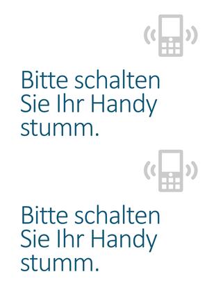 """Poster """"Handys ausschalten"""""""