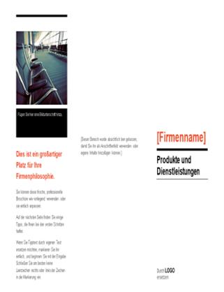 """Broschüre (Design """"Rot und Schwarz"""")"""