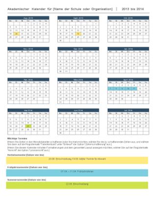 Akademischer Kalender 2014