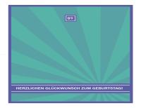 Meilenstein-Geburtstagskarte (Blaue Strahlen)