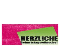 """Geburtstagskarte, Hintergrund """"Kratzer"""" (rosa, grün, Mittelfaltung)"""