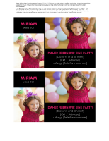Einladungspostkarte zur Geburtstagsparty