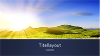Naturpräsentation mit blauen Bändern und dem Foto eines Sonnenaufgangs in den Bergen (Breitbild)