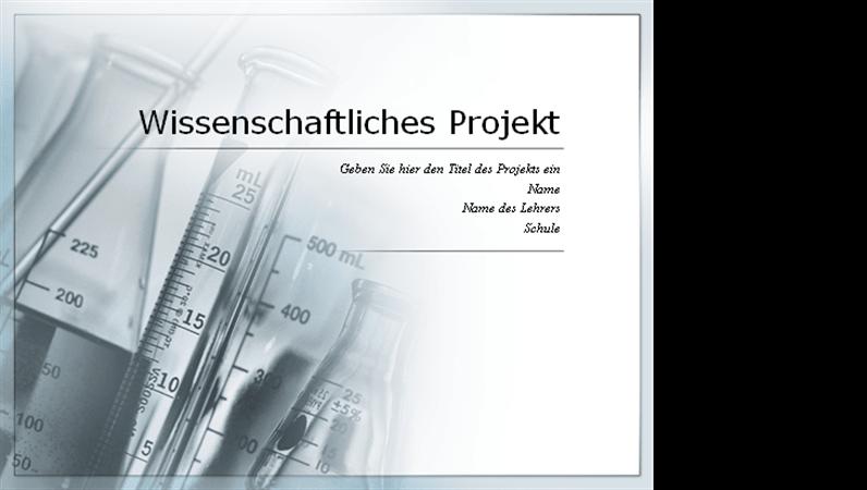 Präsentation für ein wissenschaftliches Projekt
