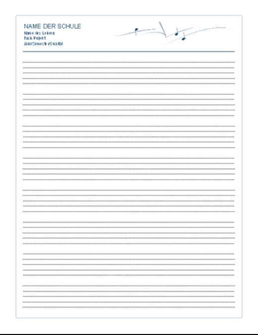 Allgemeiner Personalbogen (Hochformat, 8 S.)