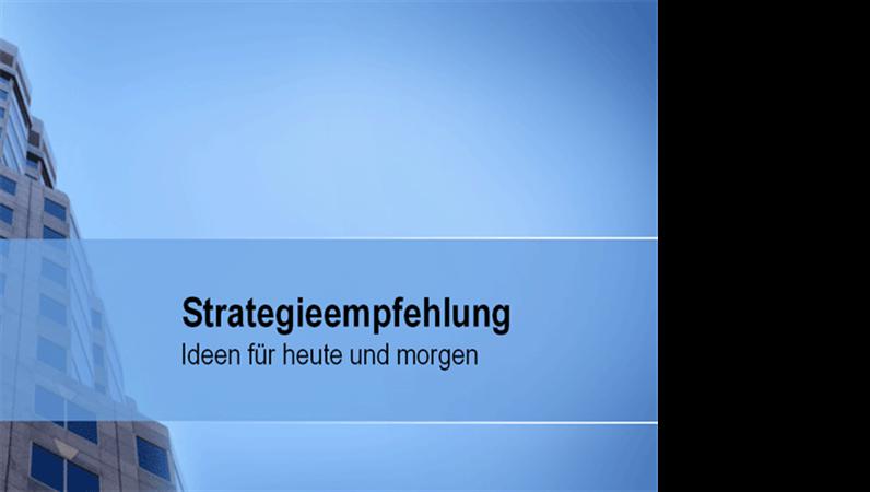 Präsentation für Strategieempfehlung