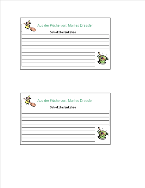 Rezeptkarten (personalisiert, 2 pro Seite)