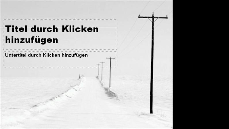 """Entwurfsvorlage """"Verschneite Straße"""""""
