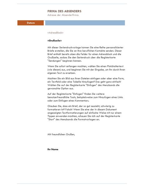 Serienbrief (Median-Design)