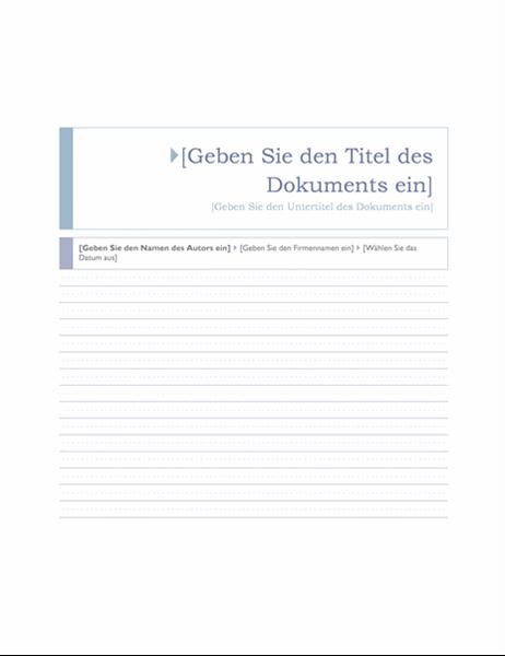 "Bericht (Design ""Okeanos"")"