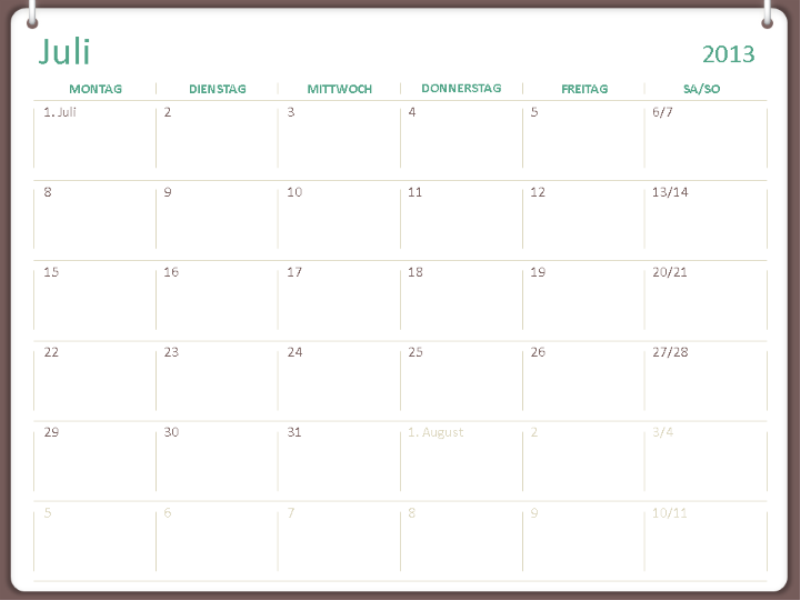 Calendrier scolaire 2013-2014 (juillet)