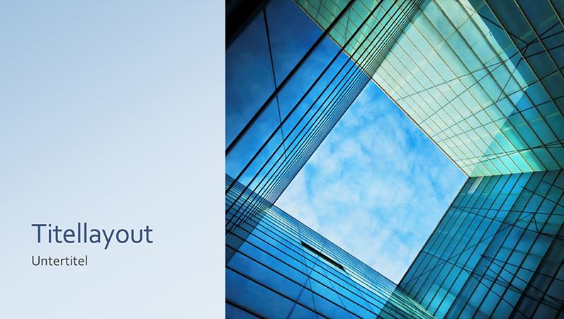 Geschäftsmarketing-Glaswürfelpräsentation (Breitbild)