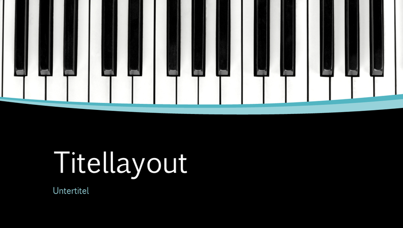 Schwingen der Musik-Präsentation (Breitbild)