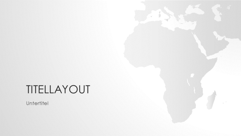 """Serie """"Weltkarten"""", Präsentation """"Afrikanischer Kontinent"""" (Breitbild)"""