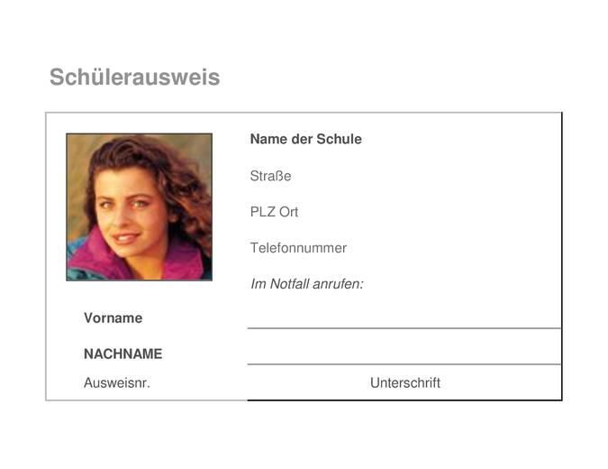 Carte d'identification étudiant