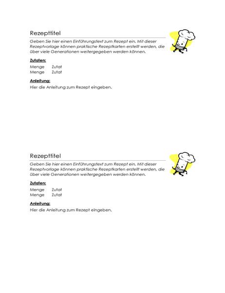 Rezeptkarten (2 pro Seite)